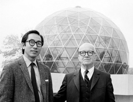 Buckminster Fuller with architect Shoji Sadao