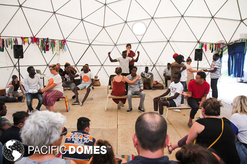 relief dome, theater dome, shelter dome