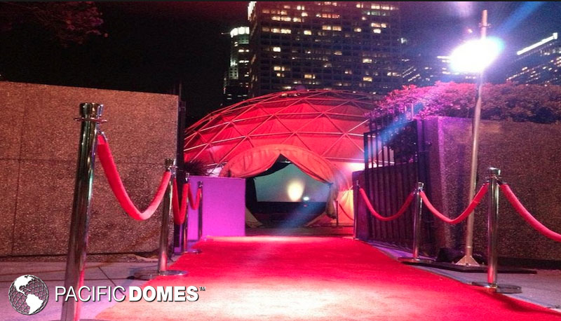 projection dome, event dome, geodesic dome