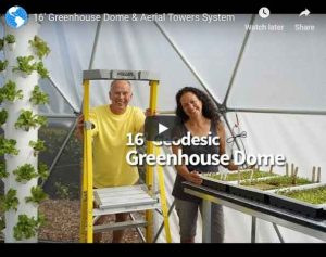 Geodesic Greenhouse Dome Video