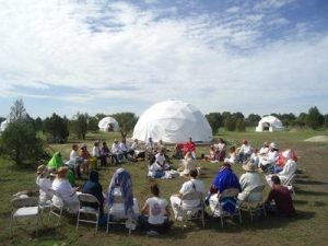 Crest 13 Dome Ecovillage Gathering
