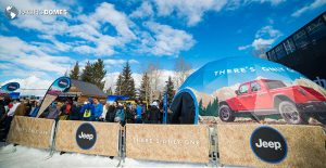 jeep dome, projection dome, printed dome, x games dome