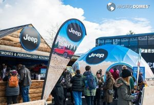 printed dome, branded dome, projection dome, jeep dome