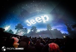 projection dome, jeep projection dome, 360 degree projection dome, 360 projection dome
