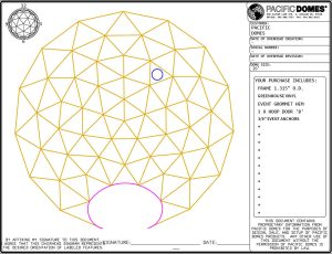 20ft Greenhouse Dome - Hoop 'B' Location