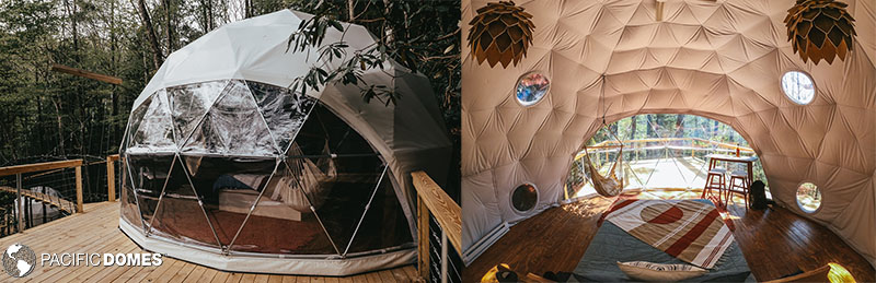 glamping domes, airbnb dome