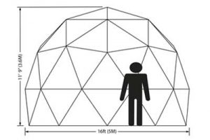 Pacific Domes - 16ft Tall Greenhouse Dome Elevation Map