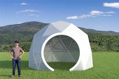 Pacific Domes - 16ft Tall Greenhouse Dome