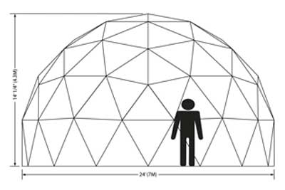 24ft Dome Elevation
