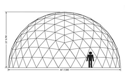 44ft Dome Elevation