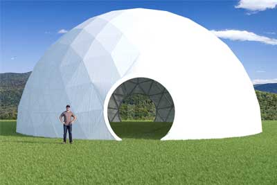 60ft Greenhouse Dome