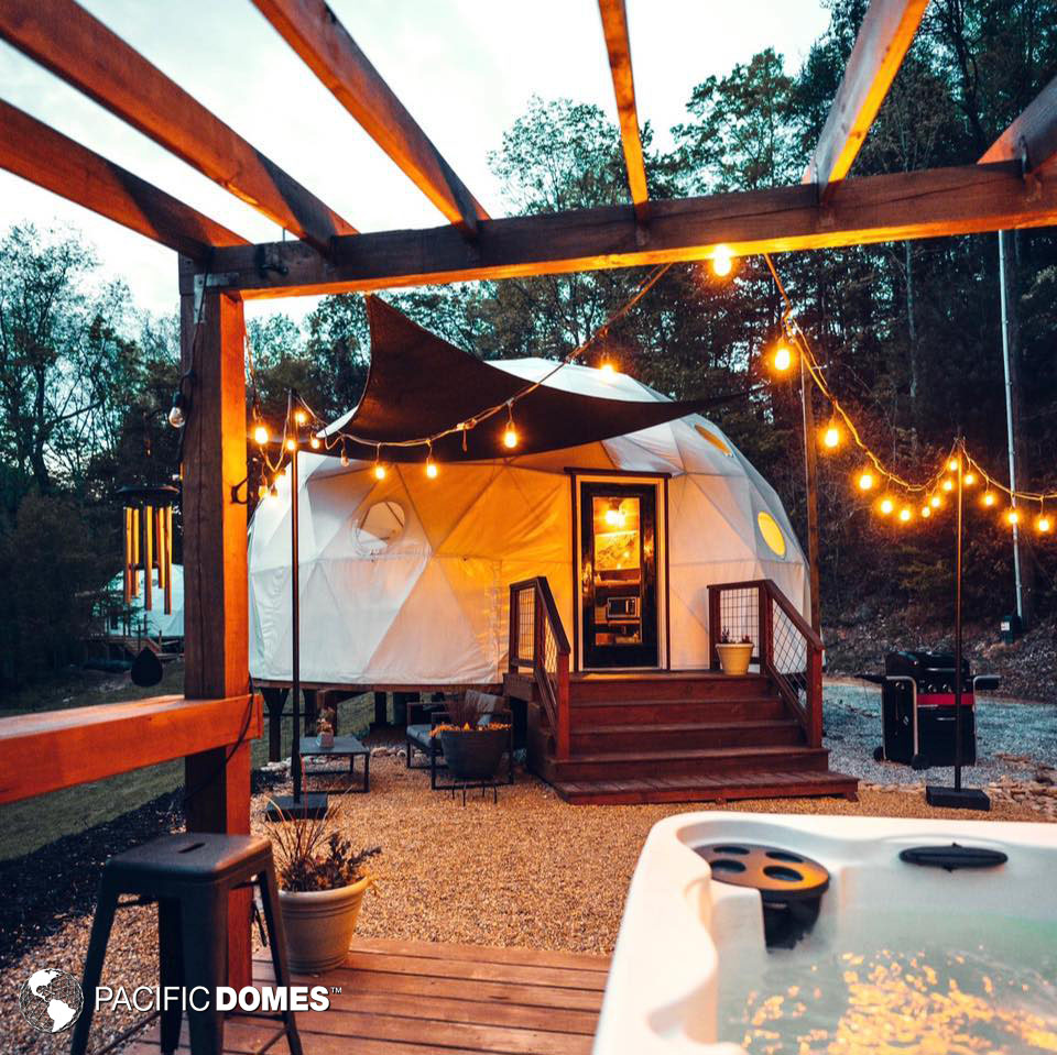 glamping, dome, glamping dome