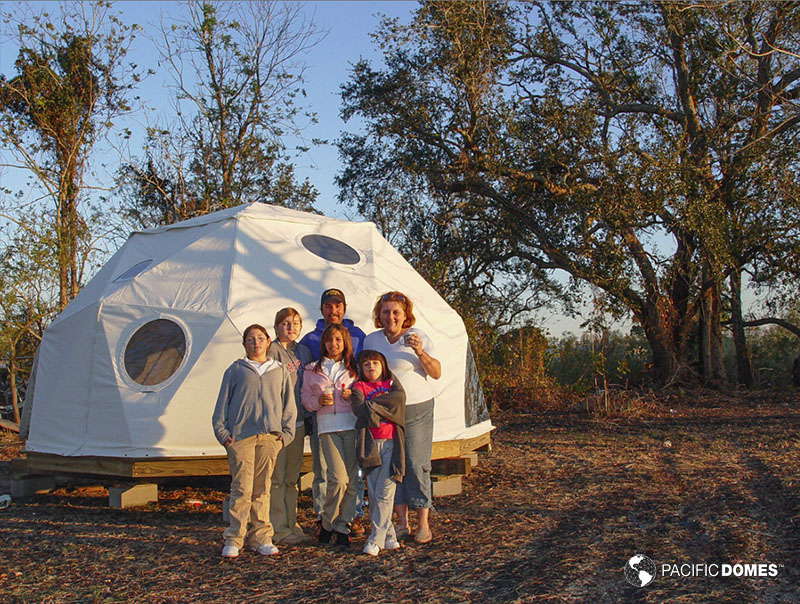 temporary shelter, shelter dome, dwell dome, emergency shelter
