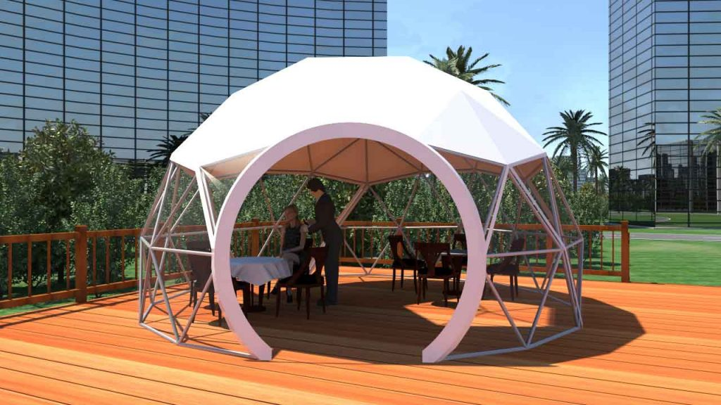 dining dome, dining tent
