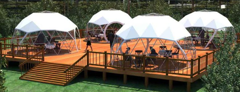 dining domes, tents for restaurants