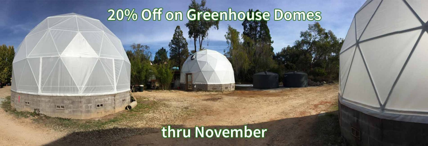 Greenhouse domes on sale