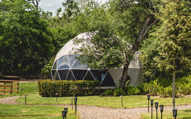 Ecoliving Dome in Nature Setting