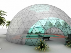Large See-thru Bubble Dining Dome